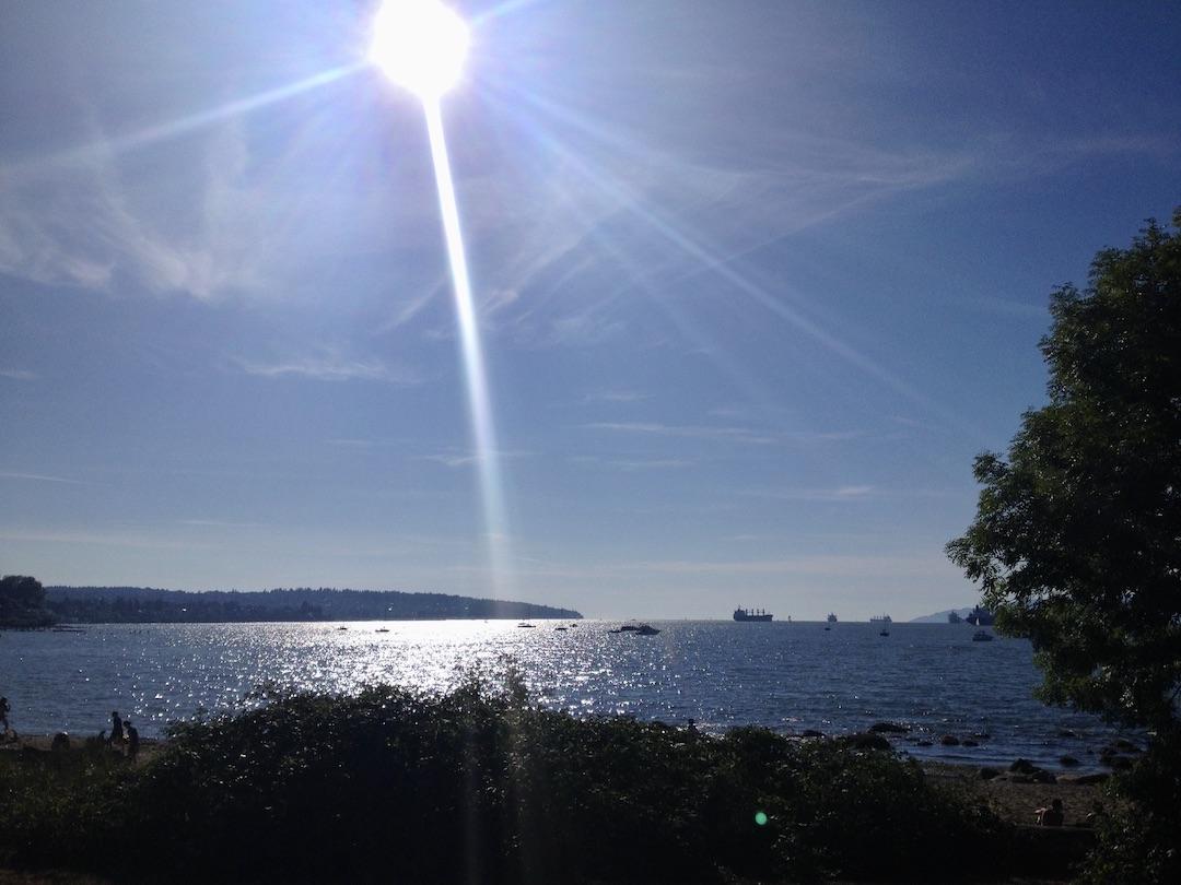 Uitzicht op de oceaan in Vancouver