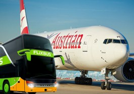 AUA kooperiert mit Flixbus (Fotos AUA, Flixbus / beigestellt)