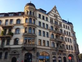 Auf der Karl Liebknecht Straße Leipzig