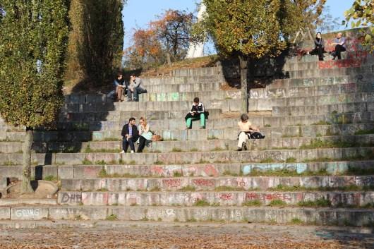 Mauerpark, Karaoke, Berlin, Treppen