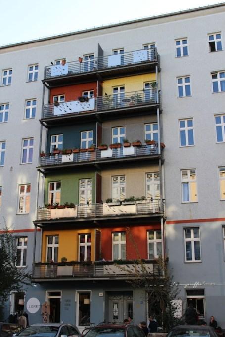 Berlin Mauerpark bunte Häuser