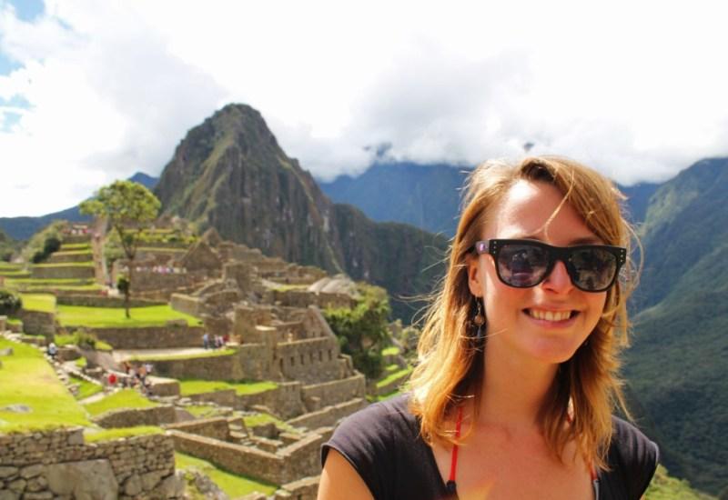 Maike am Machu Picchu