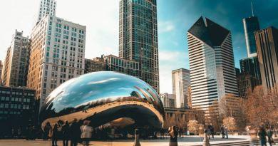 Chicago Skyline mit Tropfen