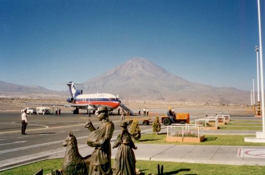 Ankunft in Arequipa im Altoplano