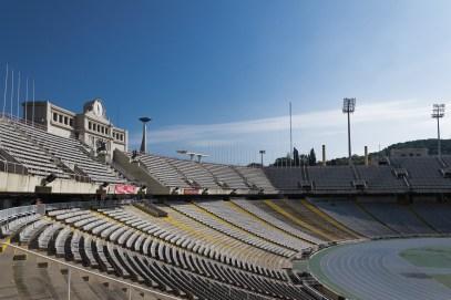 Olympisches Feuer (wenigestens der Halter) Barcelona