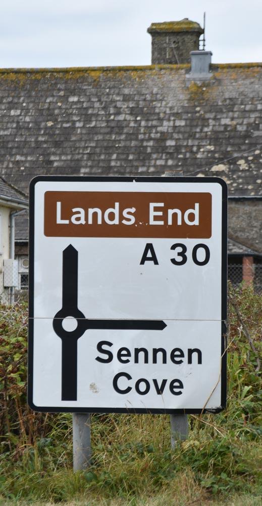 Richtung Land's End
