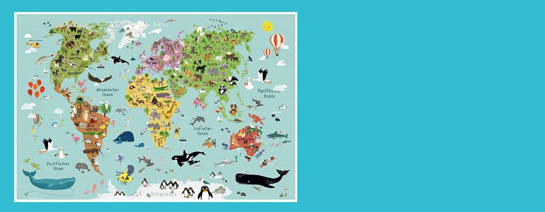 Weltkarte für Kids