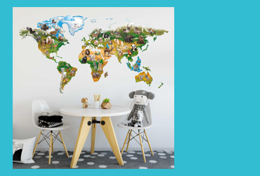 Wandtattoo Welt für Kids