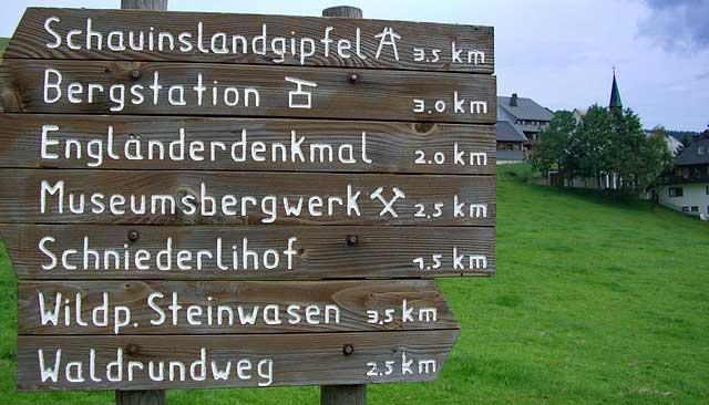 Schauinsland Infotafel