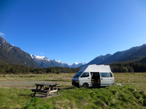 Campingplatz im Fiordland Nationalpark