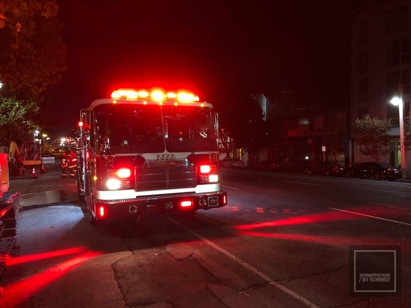 Auf unserer Rundreise durch den USA konnten wir die Feuerwehr von SF im Einsatz erleben.