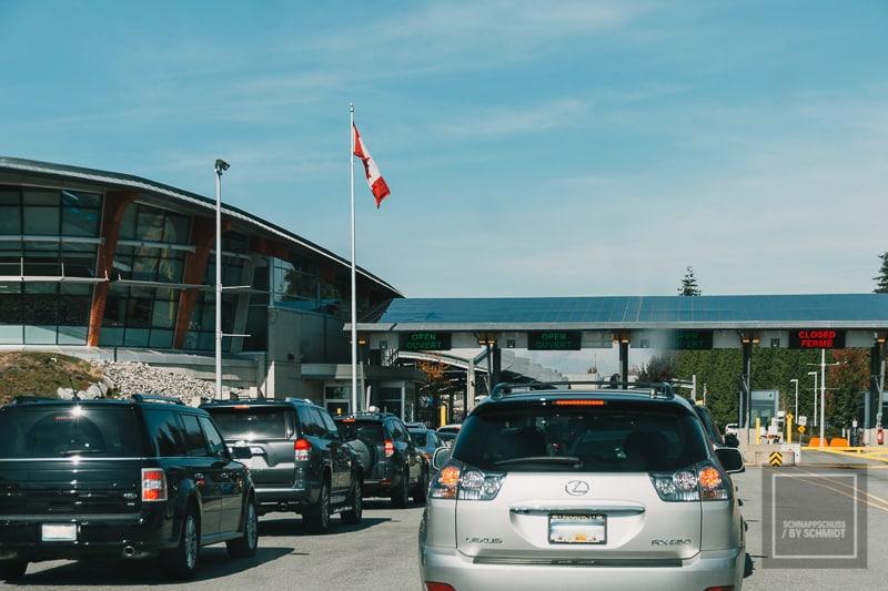 Der Grenzübergang nach Kanada