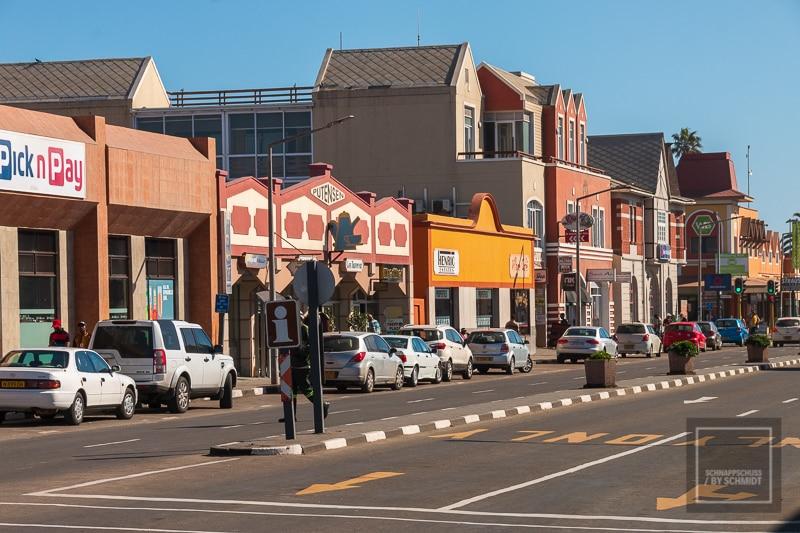 Die Straßen von Swakopmund