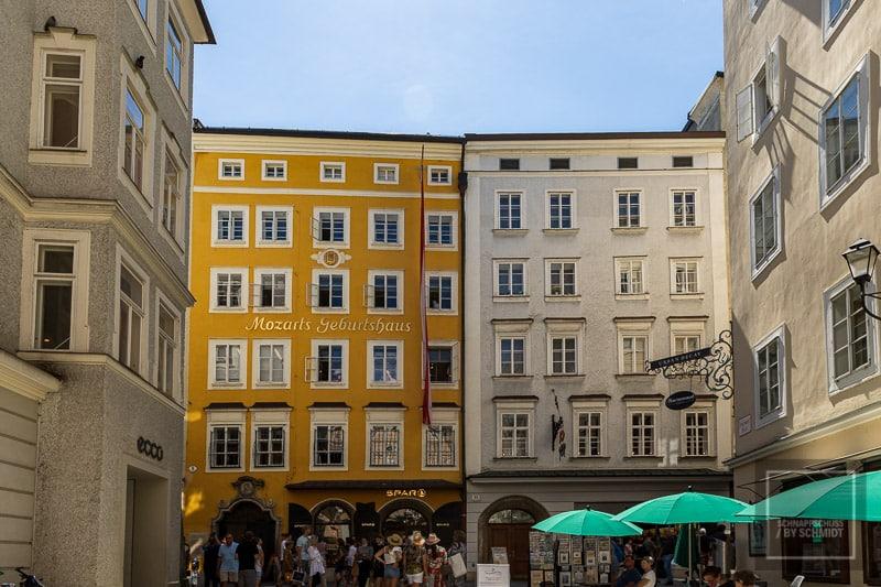 Salzburg Sehenswürdigkeiten - Das Geburtshaus von Mozart
