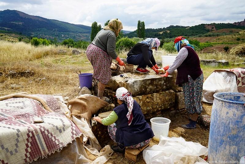 Türkei Reisebericht Reisetipps Sardes Artemistempel Reinigung