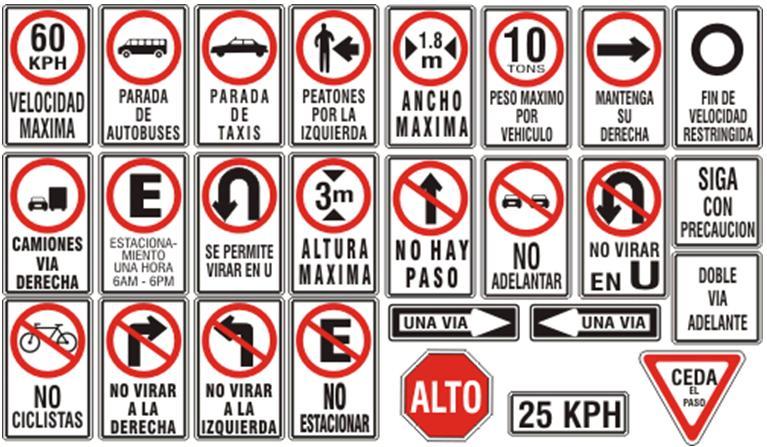 Verkeersborden Costa Rica