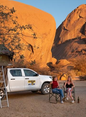Reistips Namibie kamperen Spreetshoogte Spitzkoppe