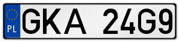 GKA rejestracja samochodu Kartuzy