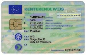 Nowy dowód rejestracyjny Holenderski część I awers