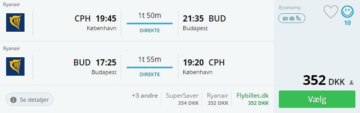 Flyv til Budapest med Ryanair
