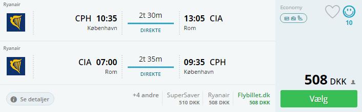 Flyv til Rom i november