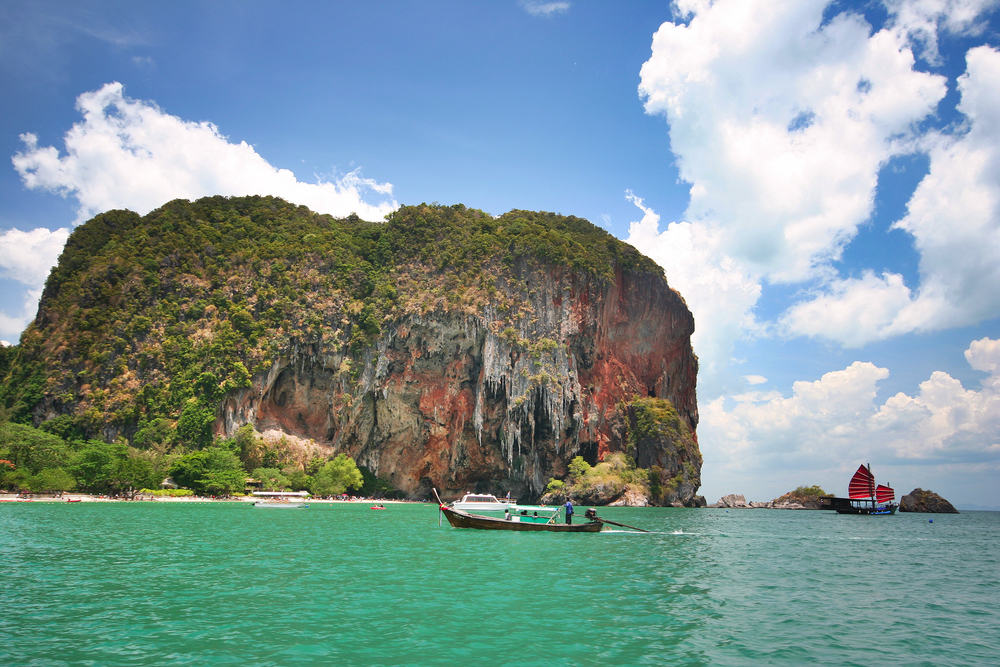 Ao Nang i Krabiprovinsen i Thailand