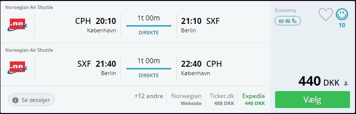 Flyv til Berlin i august