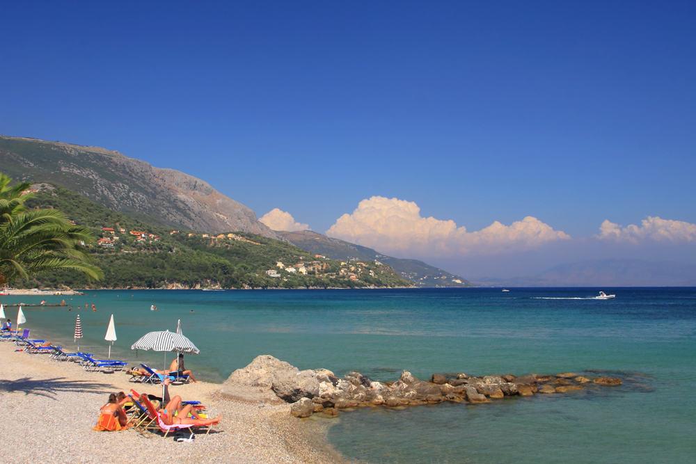 Dassia stranden - Korfu i Grænkenland