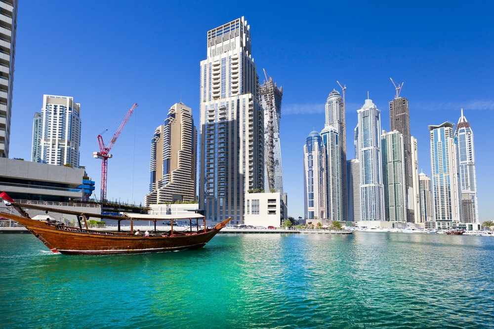 Solopgang i Dubai