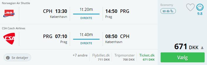 Fly til Prag i efterårsferien