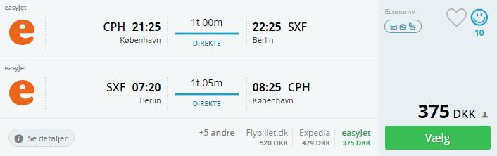Fly til Berlin i efterårsferien 2016