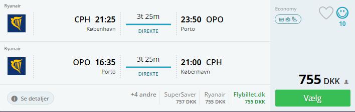 Fly til Porto - Portugal