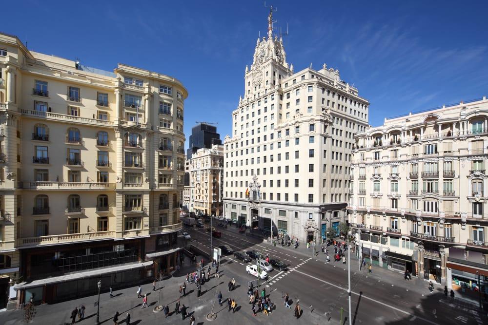 Gran via - Madrid i Spanien