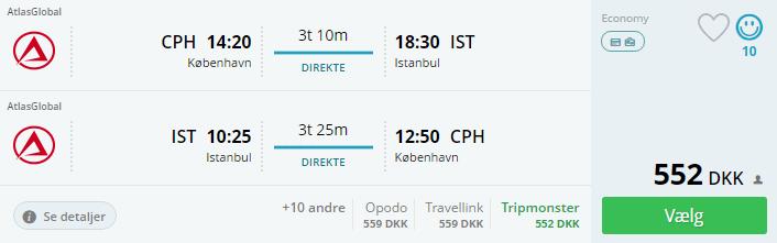 Flybilletter til Istanbul i Tyrkiet