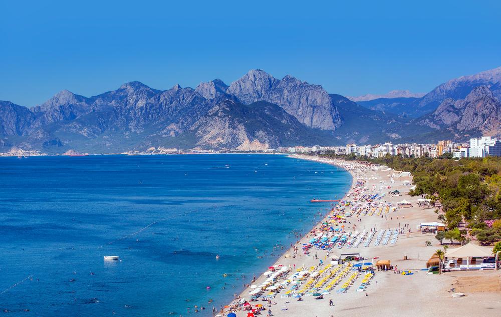 Konyaalti stranden - Antalya i Tyrkiet