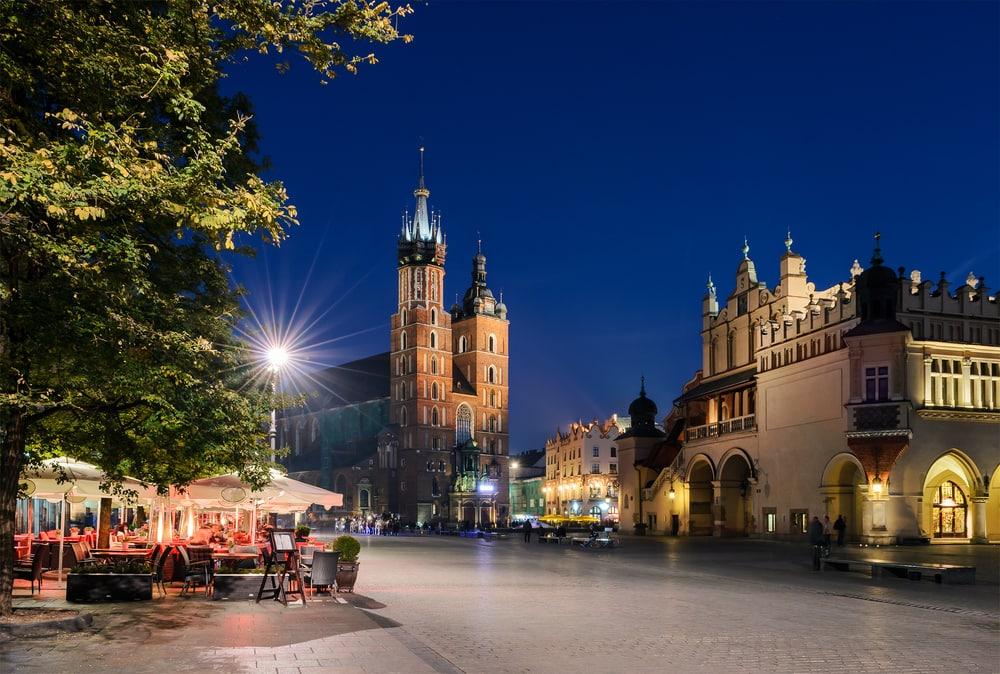 Rynek Glowny pladsen - Krakow i Polen