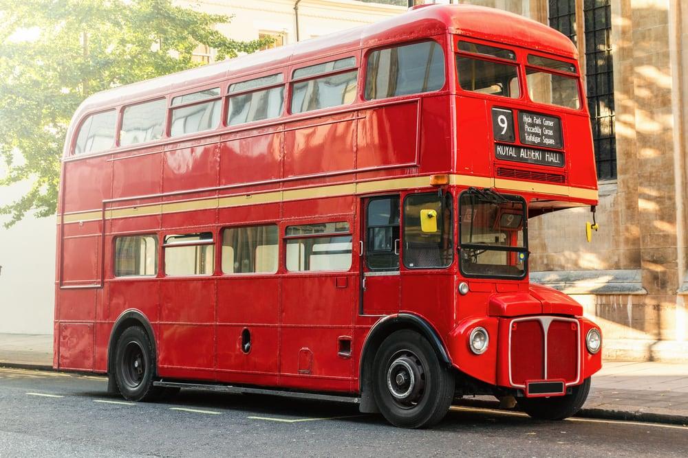 Engelsk dobbeltdækker bus