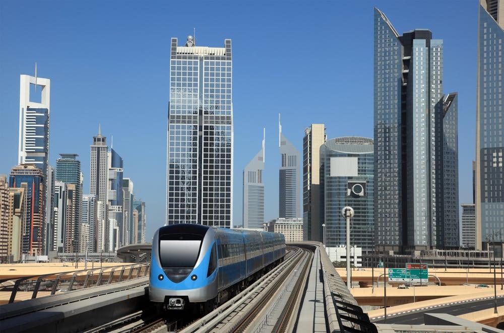 Metrostation i Dubai