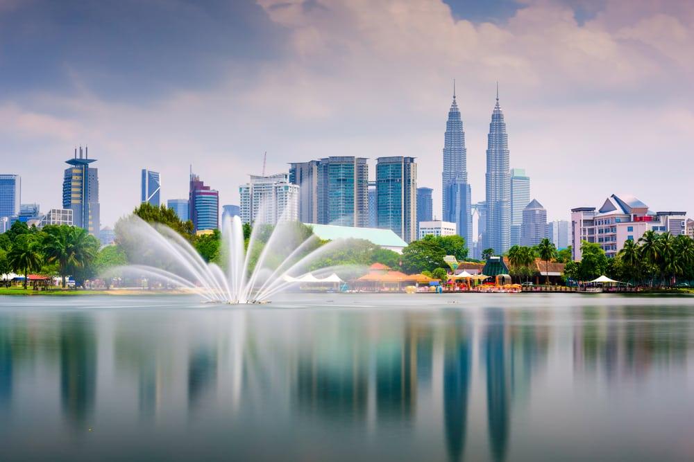 Titiwangsa Park i Kuala Lumpur i Malaysia
