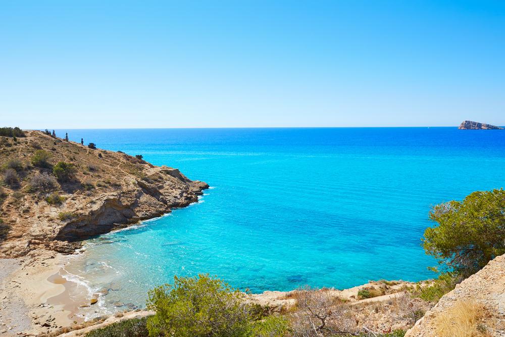 Benidorm Cala tio Ximo strand - Alicante i Spanien