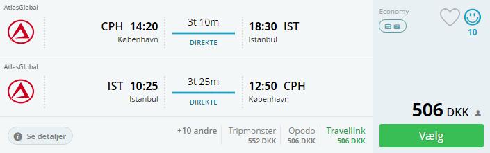 Flybilletter til Istanbul