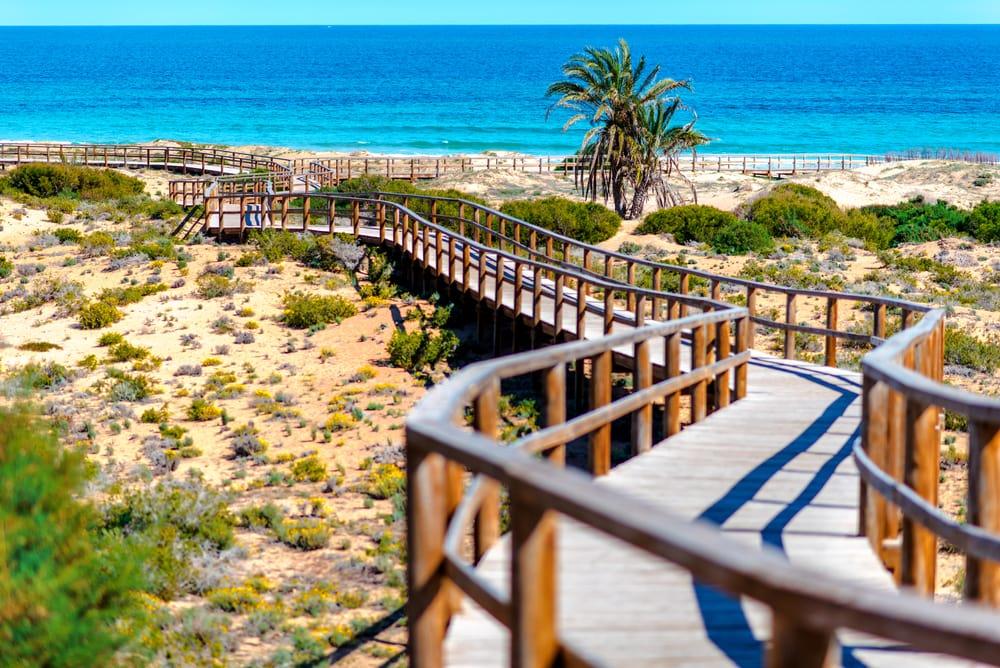 Los Arenales del sol stranden - Alicante i Spanien