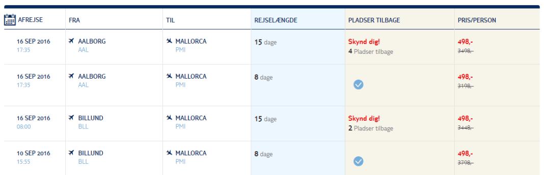 Flybilletter til Mallorca i Spanien