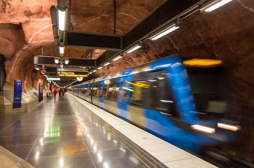 Metrostation - Stockholm i Sverige