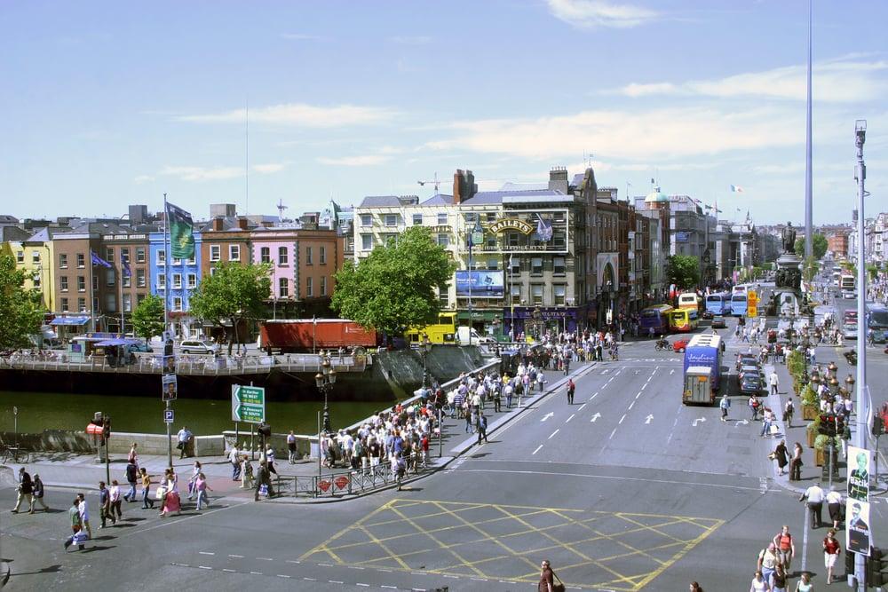 O'Connell Bridge - Dublin i Irland