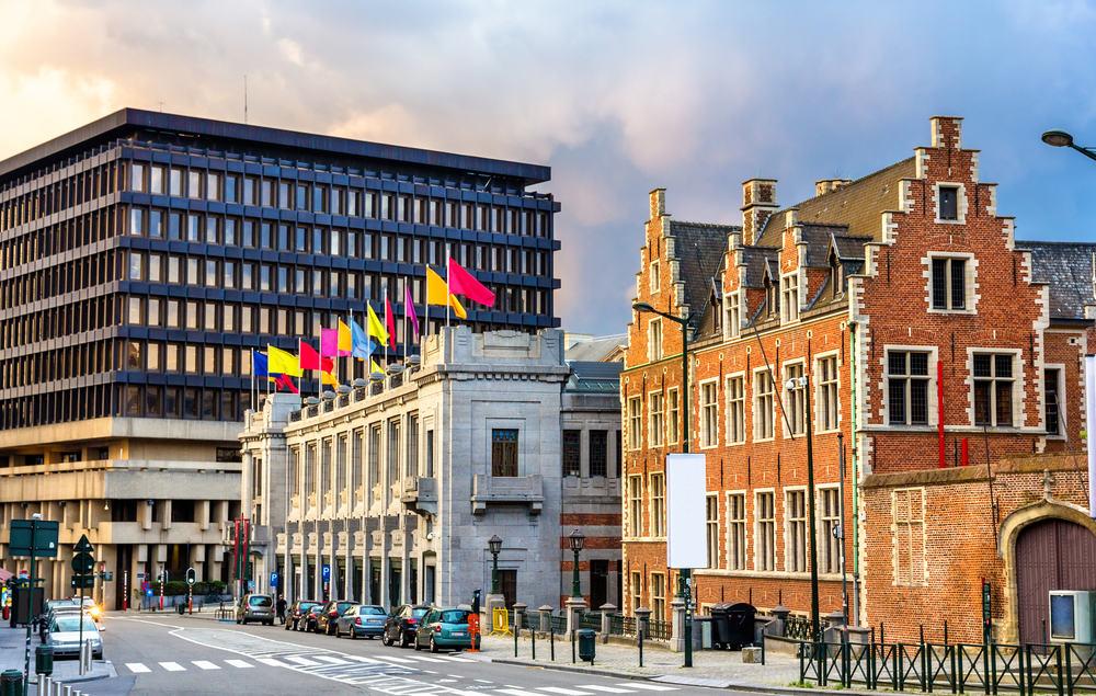 Palais des beaux arts - Bruxelles i Belgien