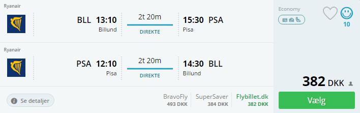 Billige flybilletter til Pisa i Italien