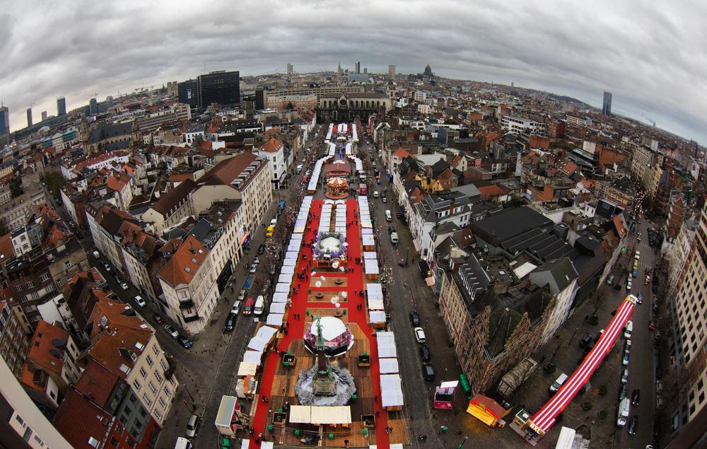 Place Saint Catherine - Bruxelles i Belgien