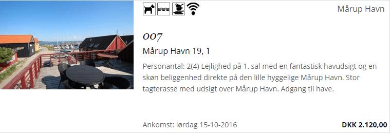 Feriebolig i Mårup Havn på Samsø