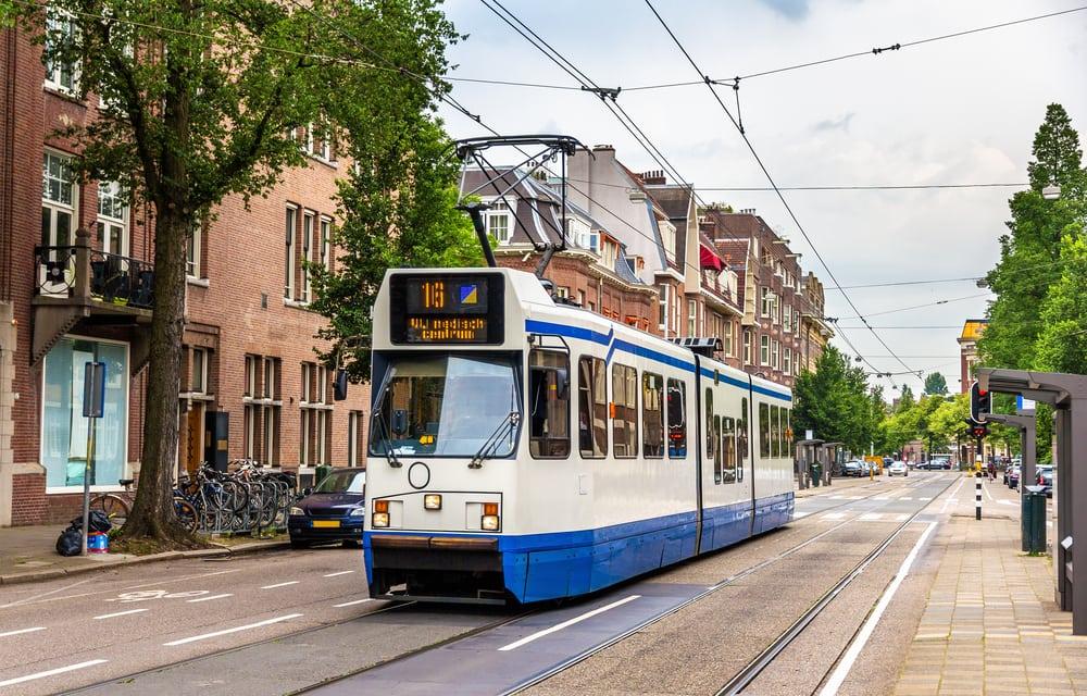 Sporvogn - Amsterdam i Holland